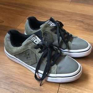 Converse All Star Army Green Canvas Suede 8